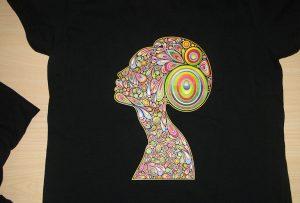 A2 t-shirt printerining WER-D4880T tomonidan qora triko nashr