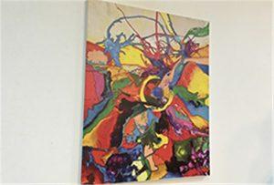 A1 o'lchamli Uv printeri tomonidan chop etilgan kanvas namunasi WER-EP6090UV