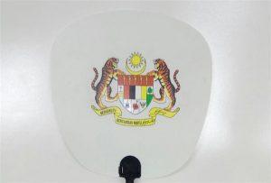 A1 o'lchamli Uv printer 6090UV tomonidan bosilgan Plastik Fan namunasi